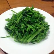 Stir fry water spinach