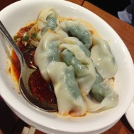 Spicy vegetable and pork wonton