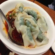 Spicy vegetable and pork wonton