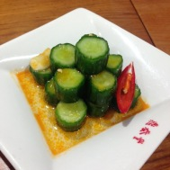 Spicy pickled cucumber